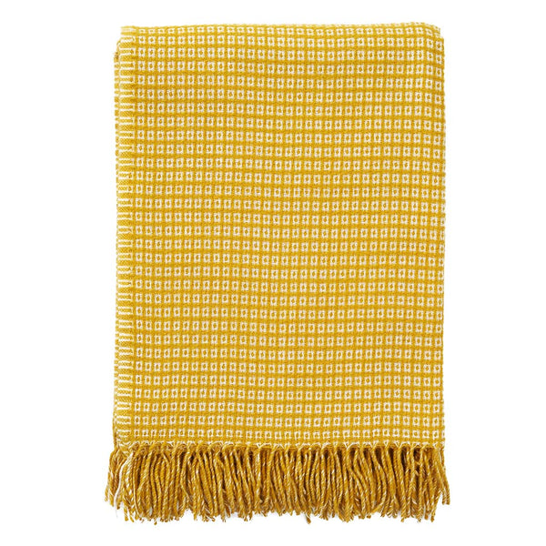 Java Yellow 130x200cm Wool/Bamboo Throw