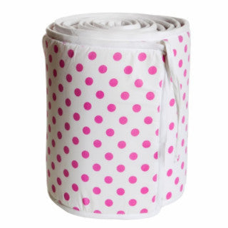 Dots Pink Cot Bumper - Northlight Homestore