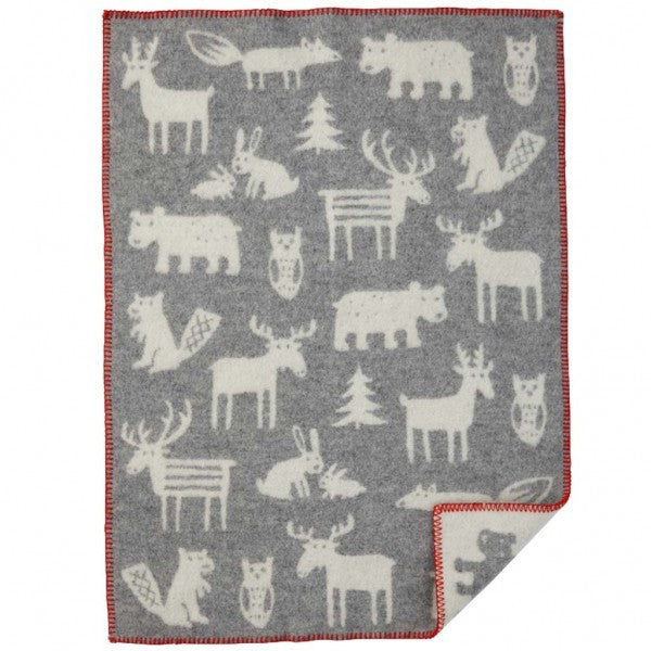 Forest Grey Eco Wool Blanket