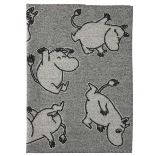 Happy Moomin Grey Eco Wool Blanket