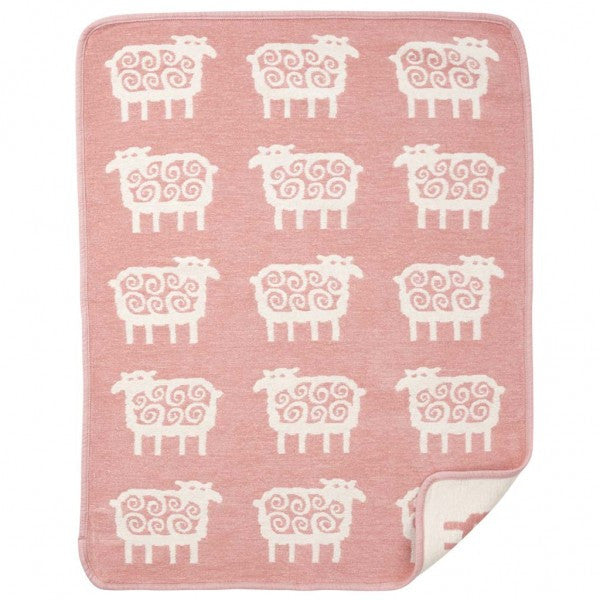 Sheep Pink Organic Cotton Chenille Blanket - Northlight Homestore