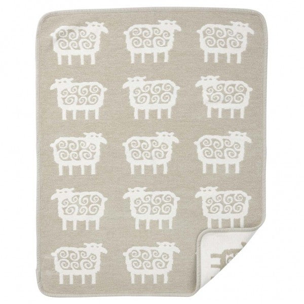 Sheep Beige Organic Cotton Chenille Blanket - Northlight Homestore