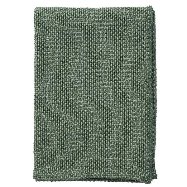 Basket Green 130x180cm Organic Cotton Blanket