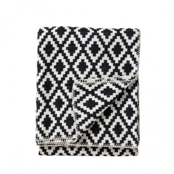 Diamonds Black Organic Cotton Blanket