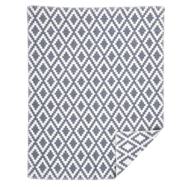 Diamonds Baby Brushed Cotton Grey Blanket