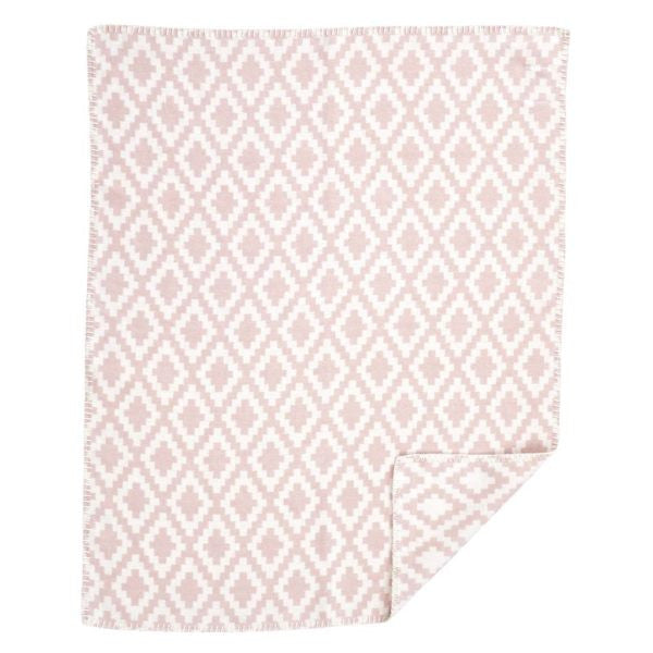 Diamonds Baby Pale Pink Blanket