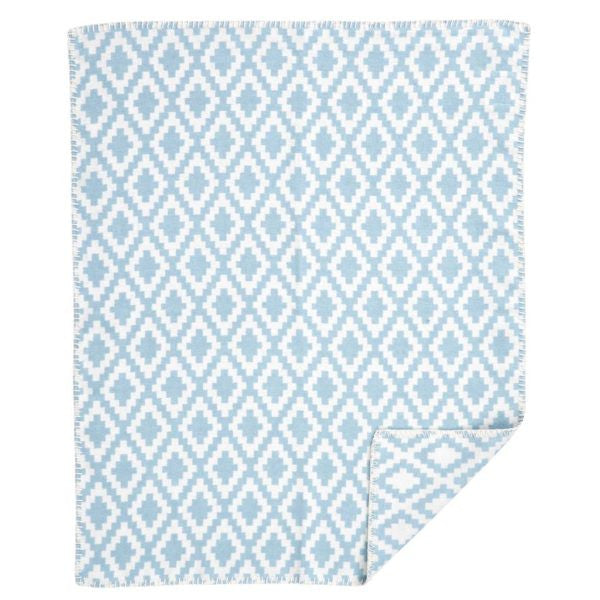 Diamonds Baby Turquoise Blanket