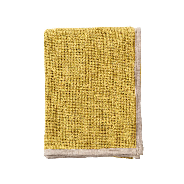 Decor Mustard 125x170cm Organic Cotton Blanket