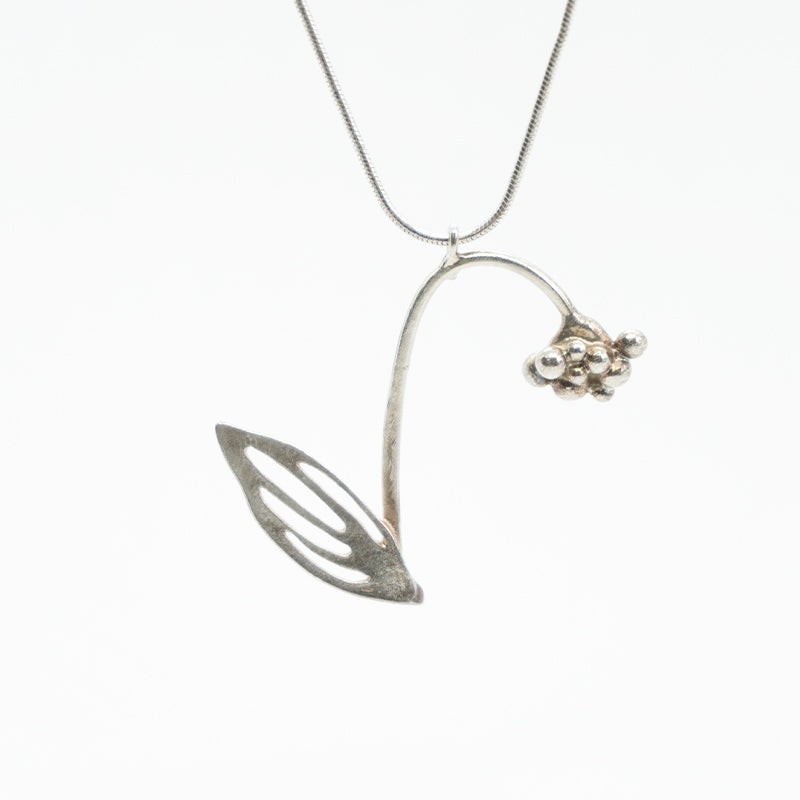 Primula Silver Necklace