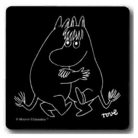 Dancing Black 9x9cm Coaster