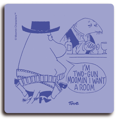 Two Gun Moomin 9x9cm Coaster