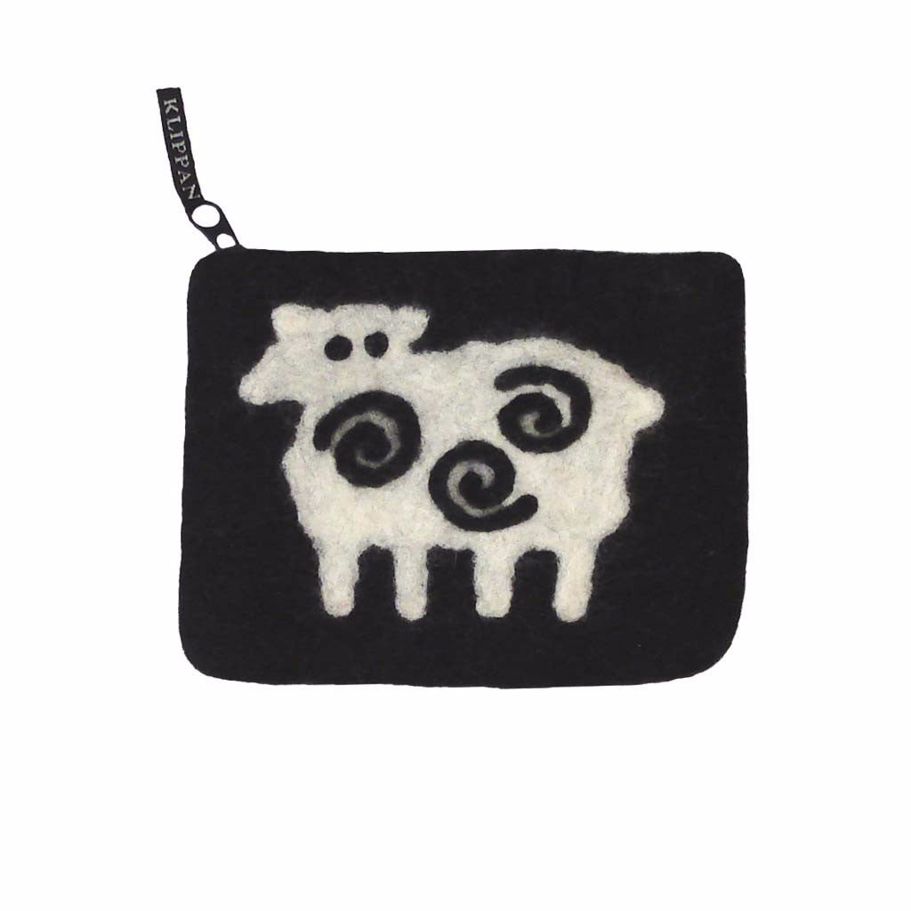 Black Sheep Felt Purse