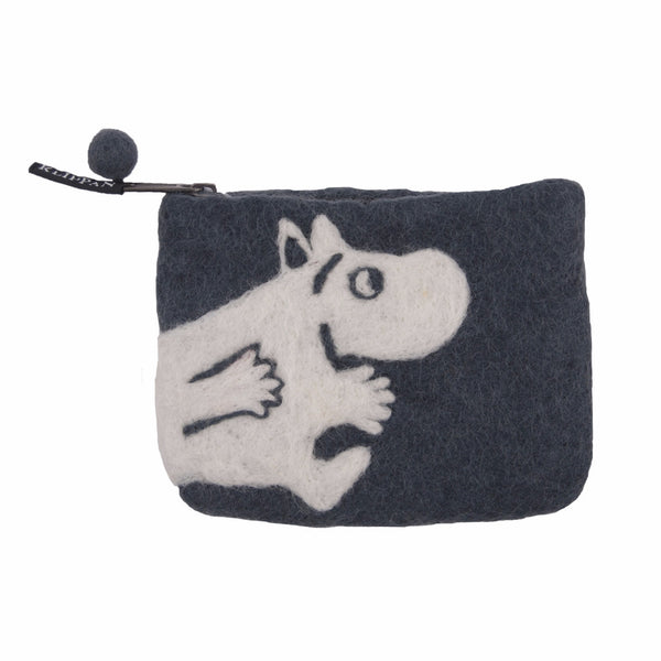 Moomin Grey Felt Purse