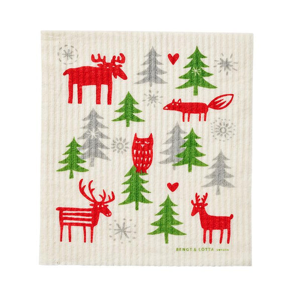 Christmas Forest Dishcloth