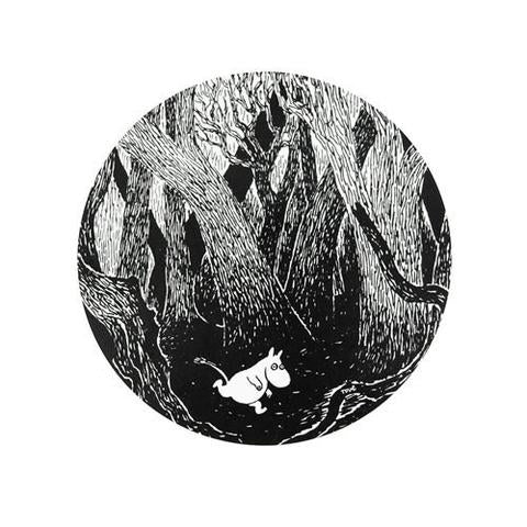 Moomin Running Ø21cm Black Pot Coaster