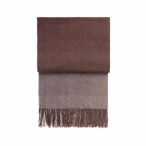 Horizon Plum/Cognac Alpaca Blend Throw - Northlight Homestore