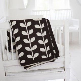 Varma Chocolate and Cream Blanket - Northlight Homestore