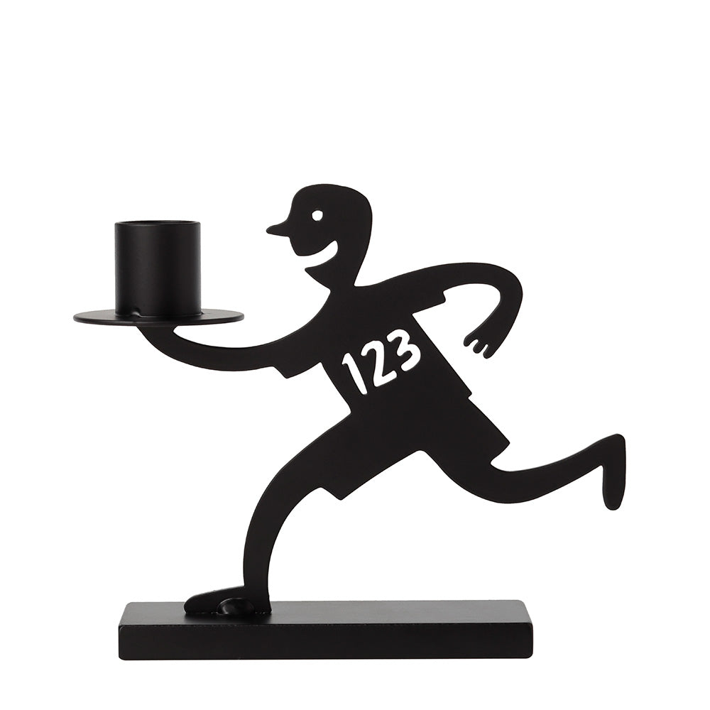 He Marathon Black Candle Holder - Northlight Homestore