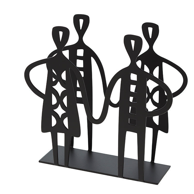 He And She Black Napkin Holder