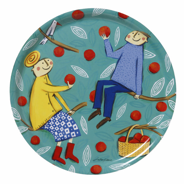 Apple Tree Round Tray
