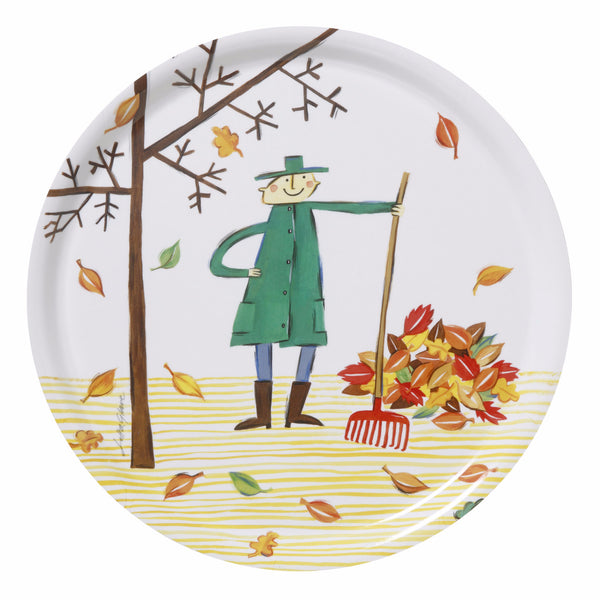 Autumn Leaf Round Tray - Northlight Homestore