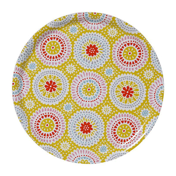Louise Yellow Ø38cm Round Tray