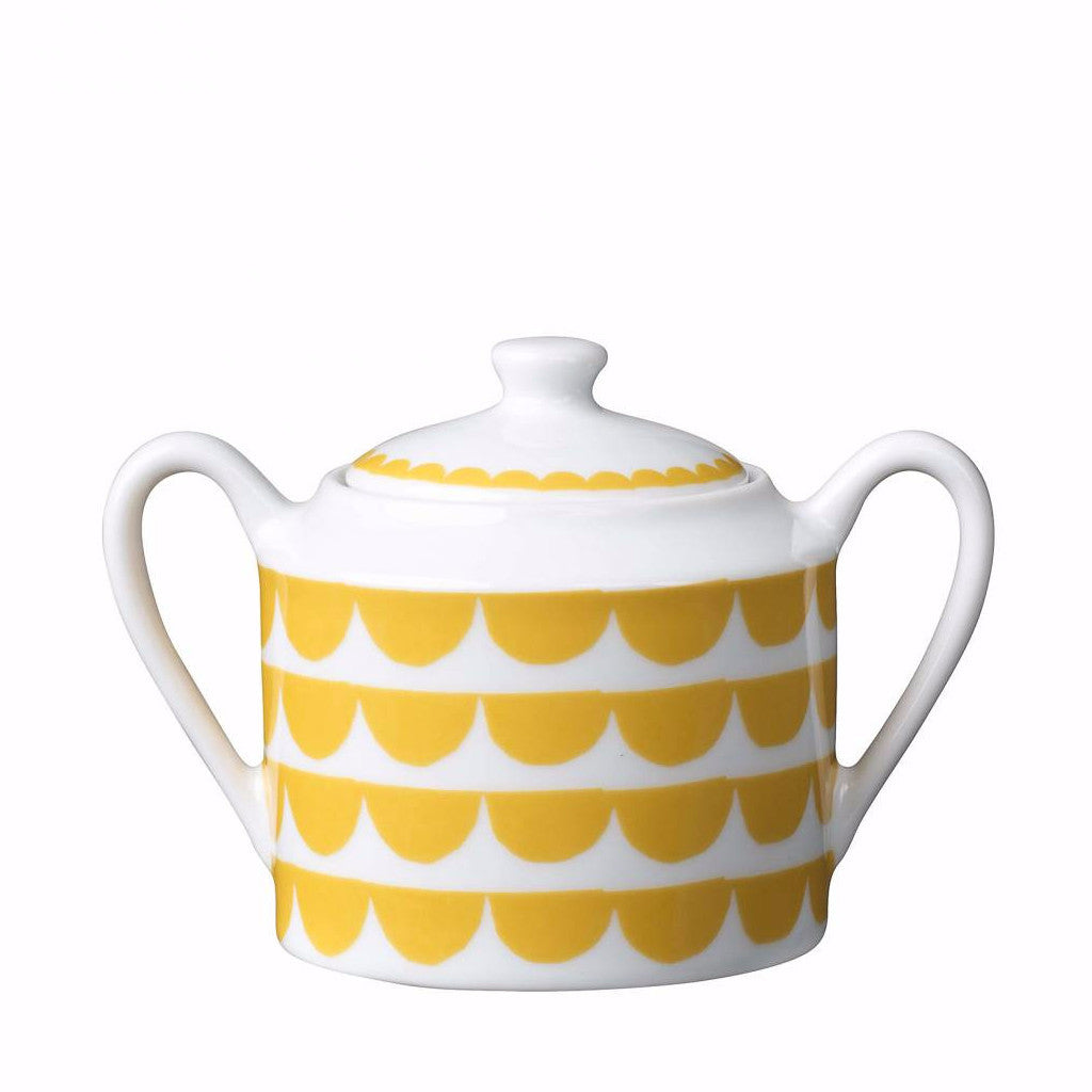 Tu Es La Vague Sugar Bowl Yellow - Northlight Homestore