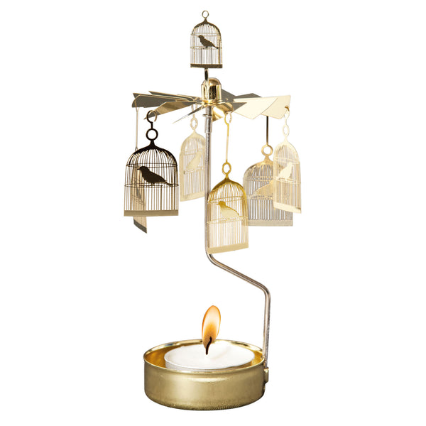 Bird Cage Rotary Candle Holder