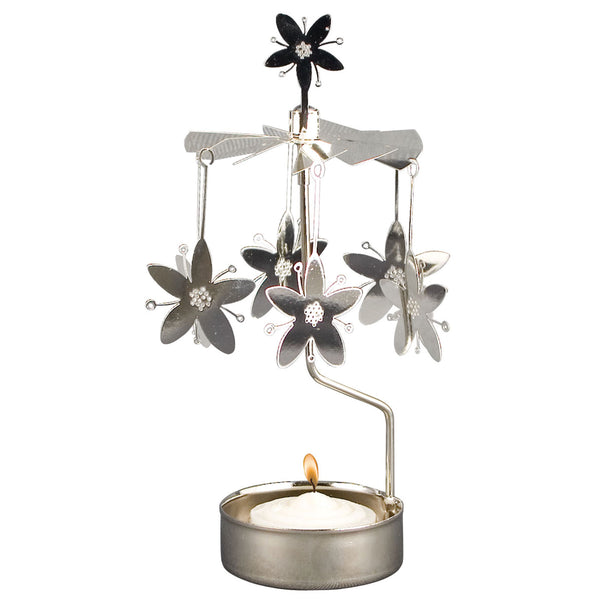 Flower Rotary Candle Holder
