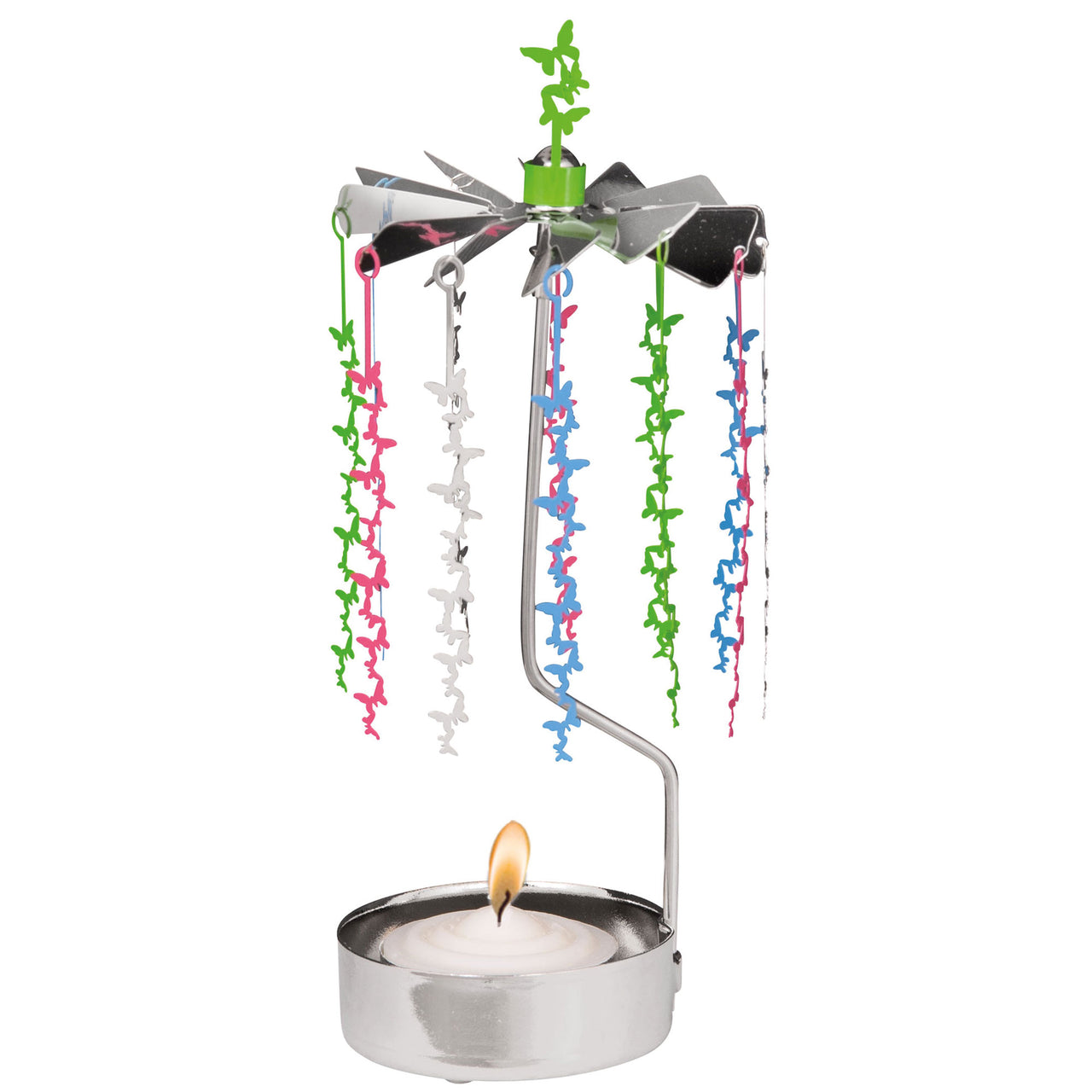Small Butterfly Rotary Candle Holder - Northlight Homestore