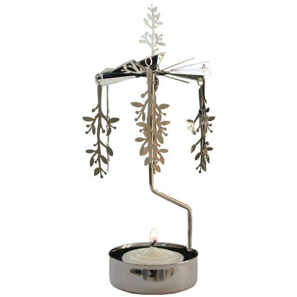 Mistletoe Branch Rotary Candle Holder