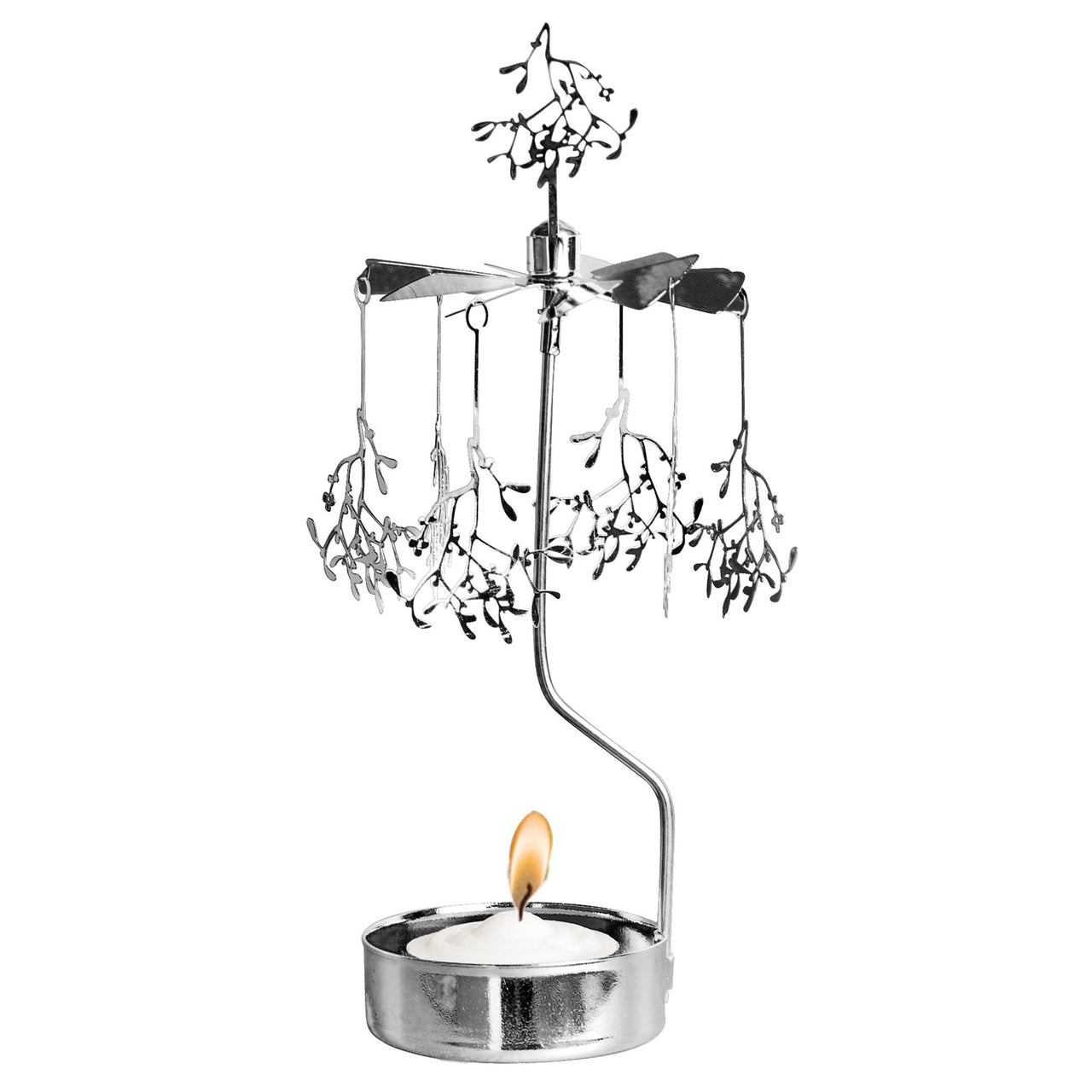 Mistletoe Branch Rotary Candle Holder - Northlight Homestore