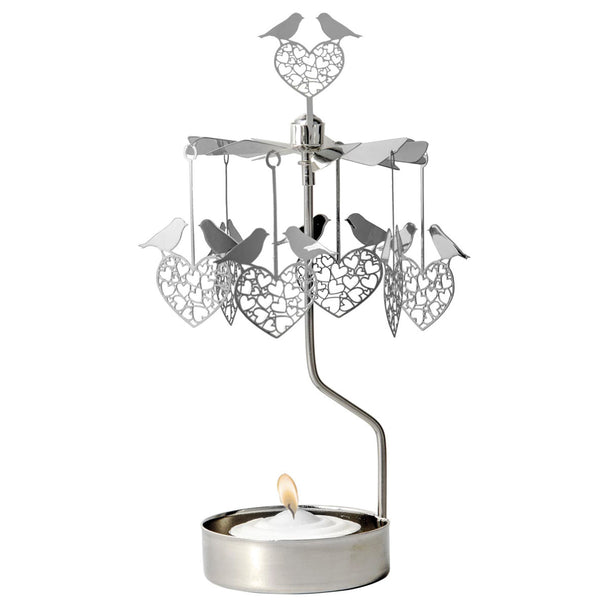 Lovebirds Rotary Candle Holder - Northlight Homestore