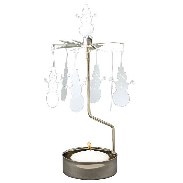Snowman Rotary Candle Holder - Northlight Homestore