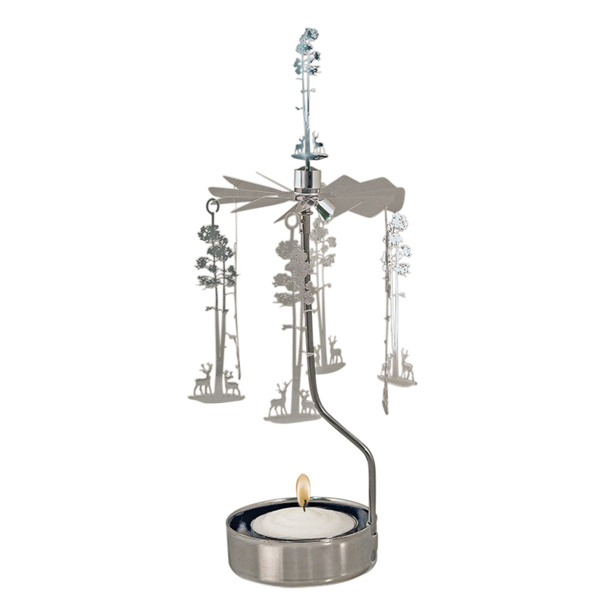 Deer/Tree Rotary Candle Holder - Northlight Homestore
