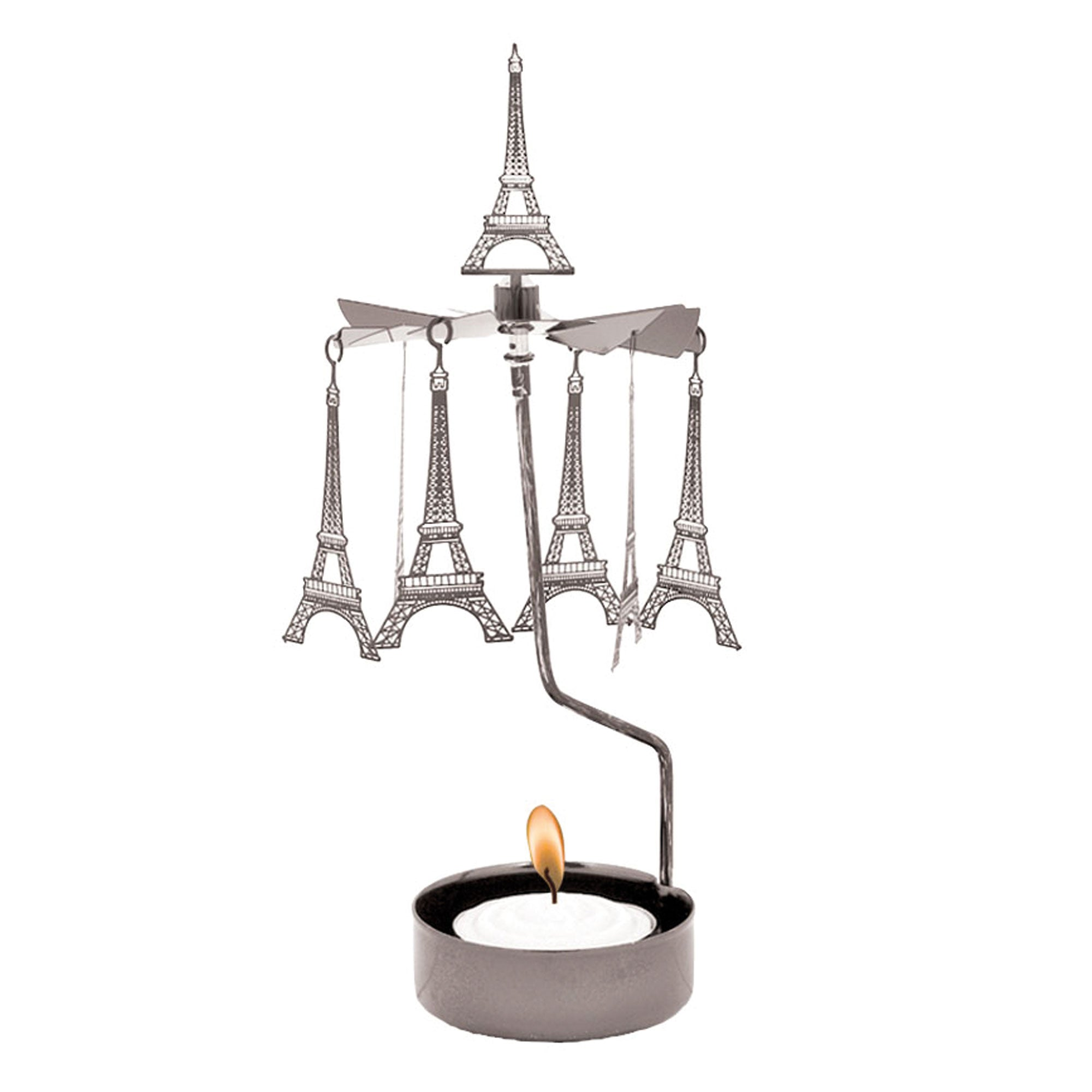 Eiffel Tower Rotary Candle Holder