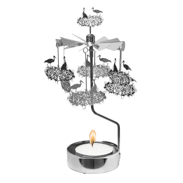Stork Rotary Candle Holder