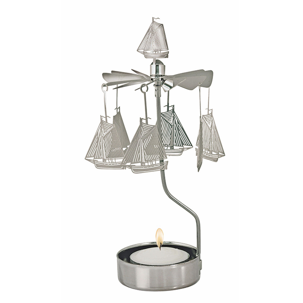 Sailboat Rotary Candle Holder - Northlight Homestore