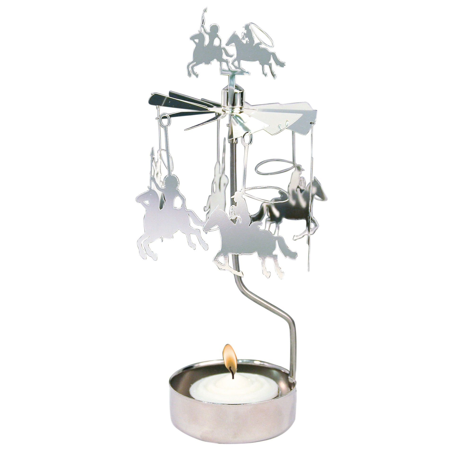 Cowboy Rotary Candle Holder - Northlight Homestore