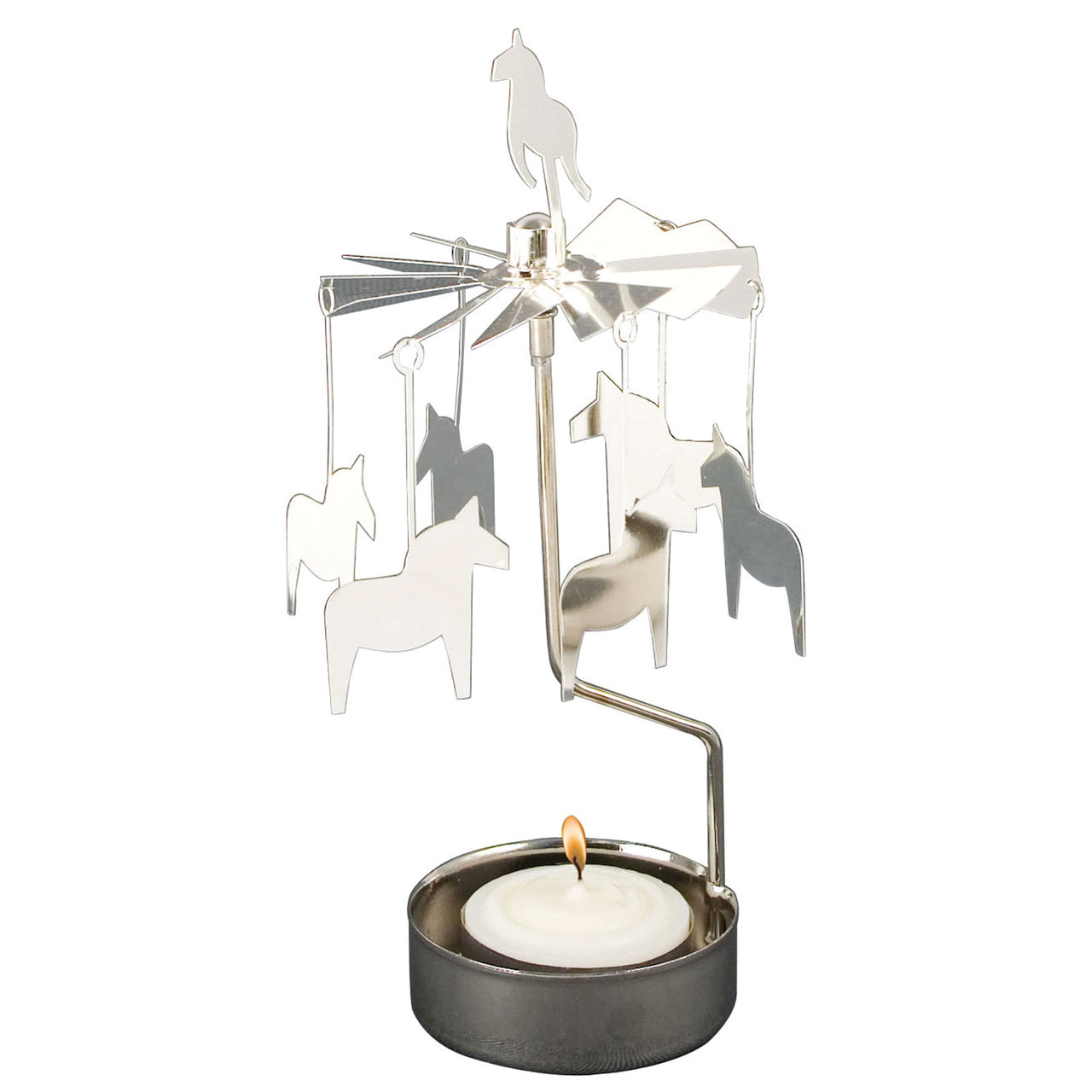 Horse Rotary Candle Holder - Northlight Homestore