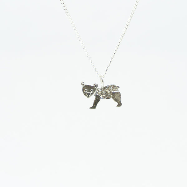 Bear Sterling Silver Necklace