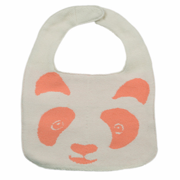 Peachy Panda Peach Baby Bib - Northlight Homestore