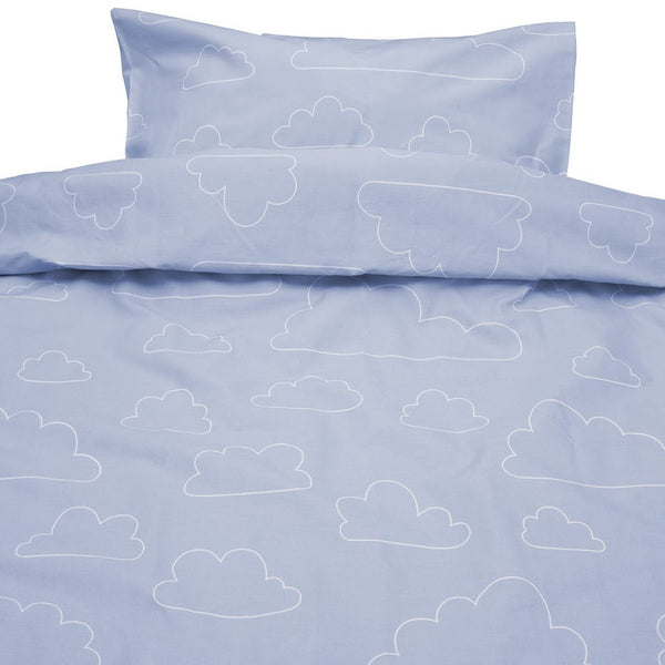 Moln Eco Cotton Cloud Blue Single Bed Set 150cm x 210cm