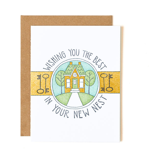 New Home New Nest Letterpress Card - Northlight Homestore