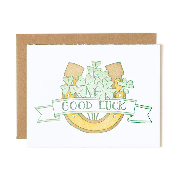 Good Luck Letterpress Card - Northlight Homestore