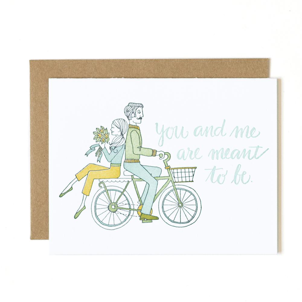 You and Me Letterpress Card