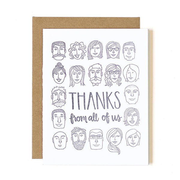 Thanks From All Letterpress Card