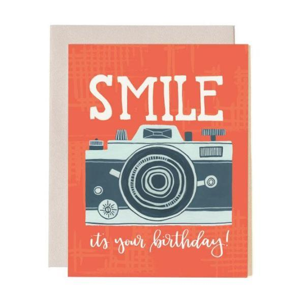 Birthday Smile Camera Card