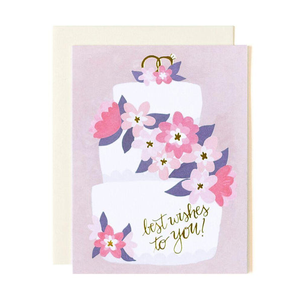 Wedding Cake Best Wishes Card