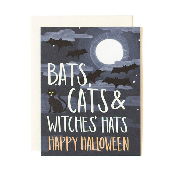 Bats & Cats Halloween Card